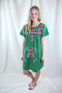 Green/Multi Mini Dress