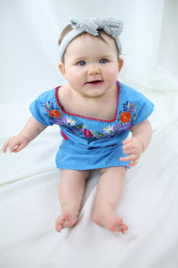 Blue/Multi Kids Dress