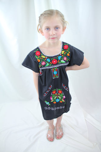 Black/Multi Kids Dress