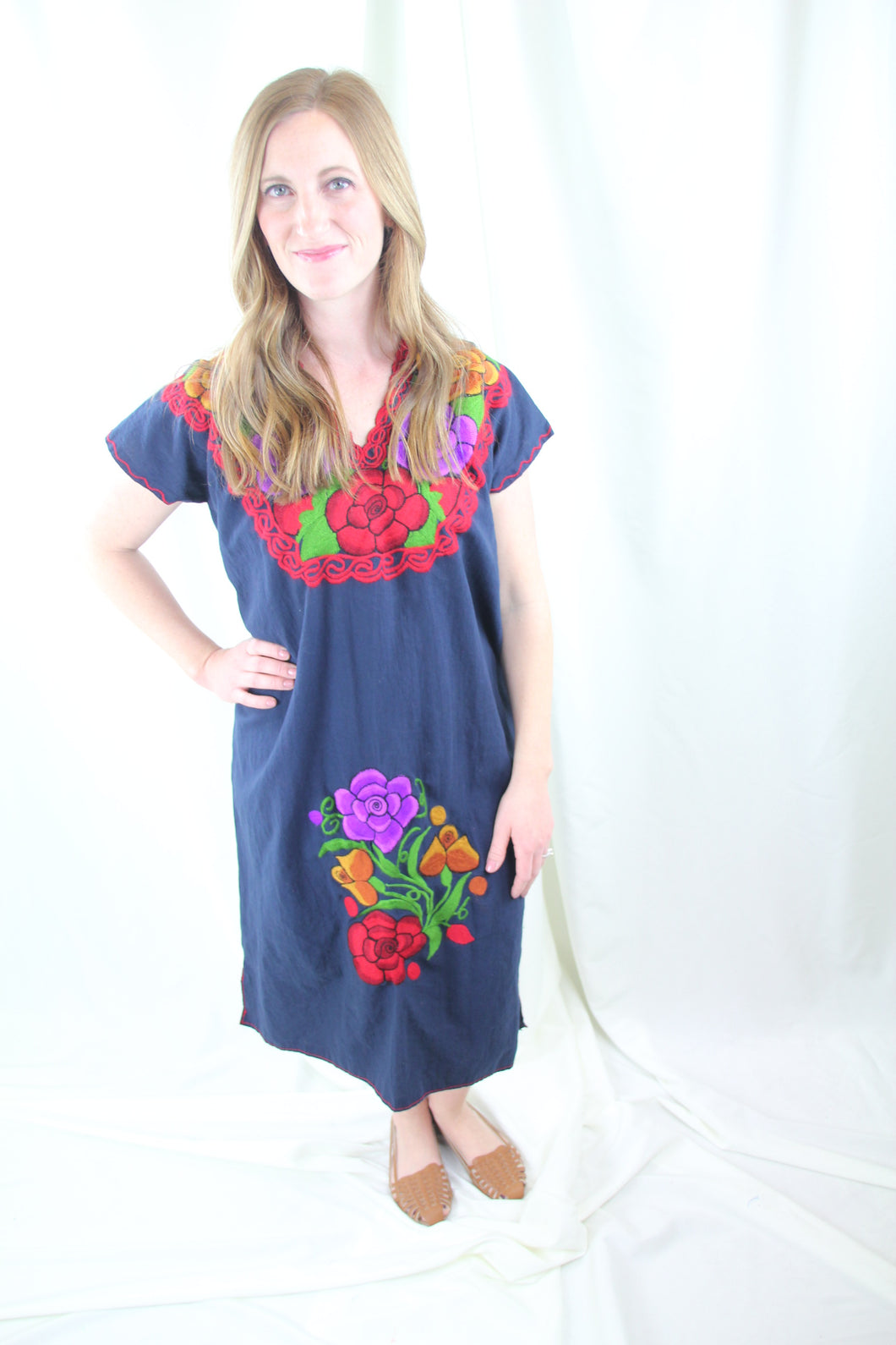 Navy/Multi Frida Dress