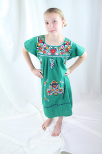 Green/Multi Kids Dress