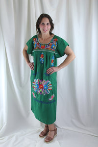 Green/Multi Midi Dress