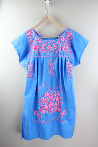 Blue/Pink Multi Mini Dress