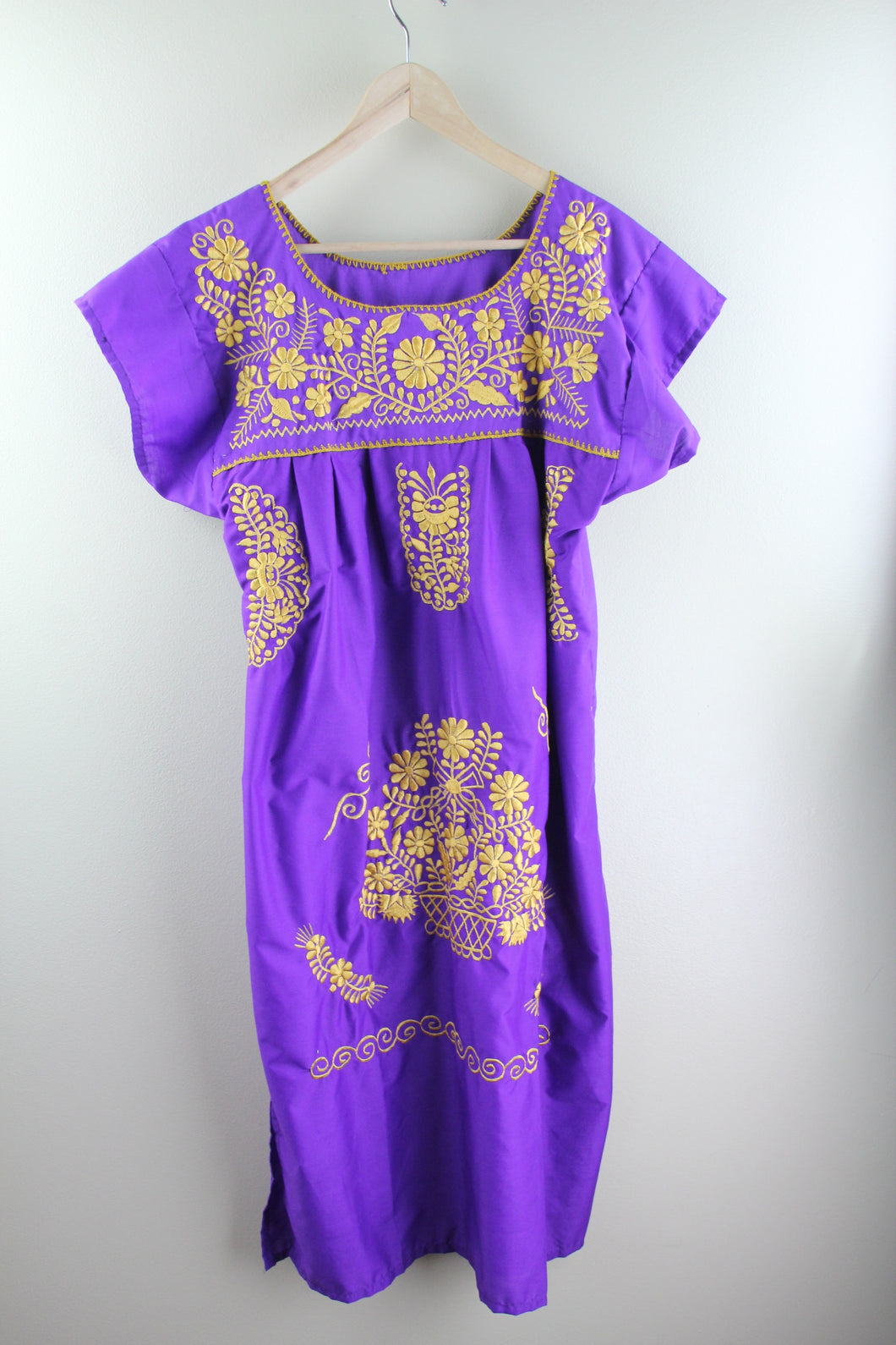 Purple/Gold Midi Dress