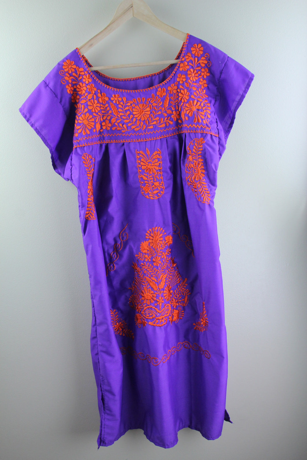 Purple/Orange Midi Dress