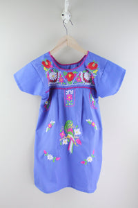 Blue/Parrot Kids Size 6 Dress
