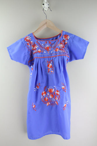 Blue/Orange Multi Kids Size 6 Dress