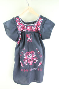 Black/Pink Multi Kids Size 4 Dress