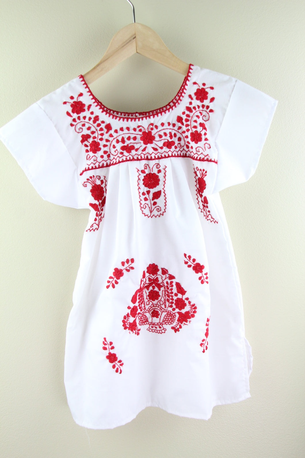 White/Red Kids Size 4 Dress