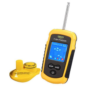 100M Hand-held Sonar LCD Fish Finder w/ Alarm