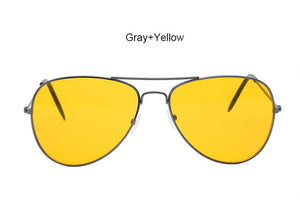 Yellow Lens Aviation Style Shooting and Night Driving Glasses