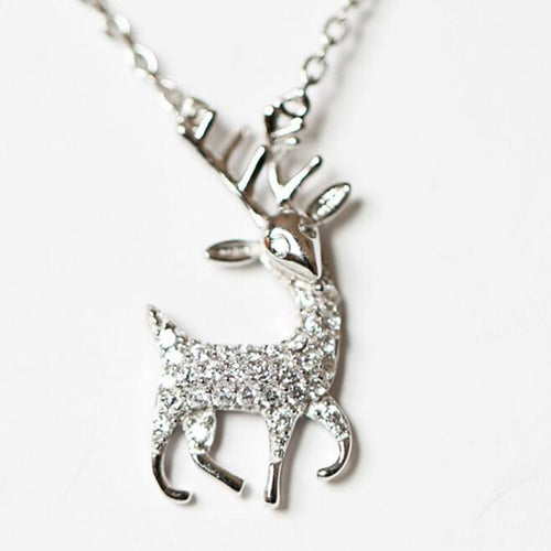 925 Sterling Silver Exquisite Deer Hypo-allergenic  Chain Pendant Necklace - Outdoor Outfitters Pro