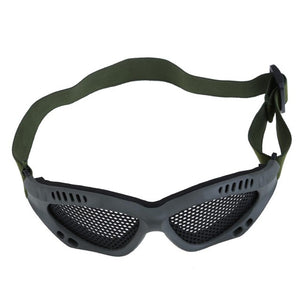 New Tactical Airsoft Paintball Steel Mesh Eyes Protective Goggles Glasses Outdoor Eyewear - Outdoor Outfitters Pro