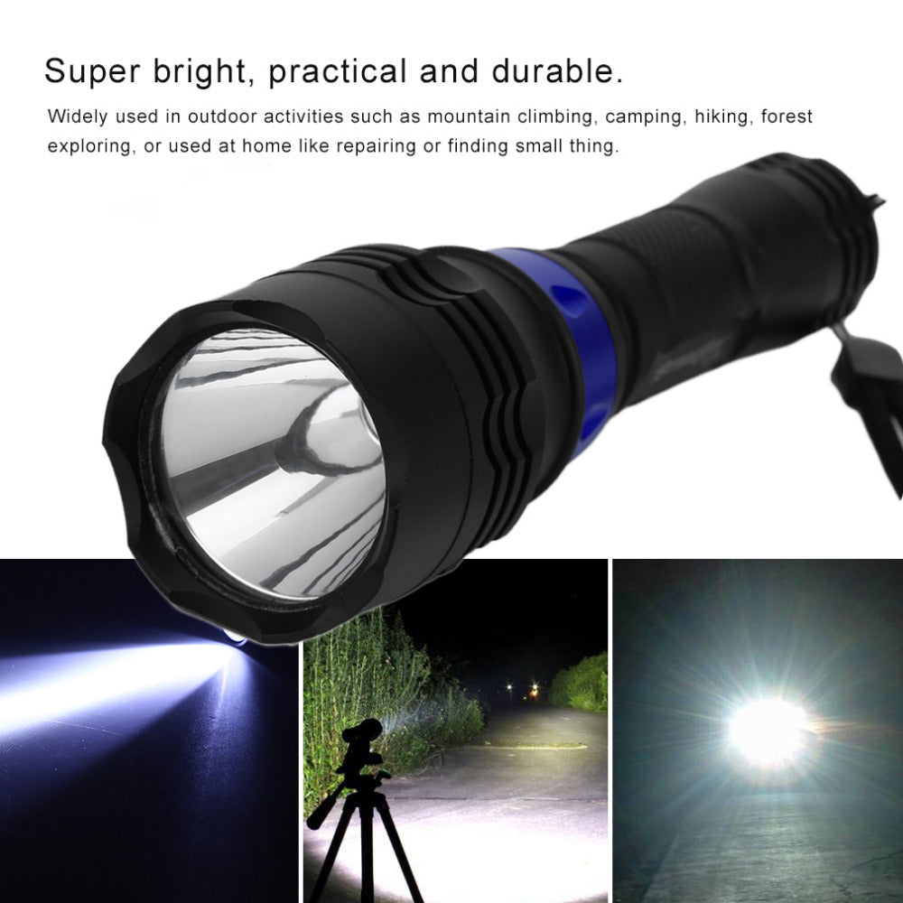 T6 Mini LED Flashlight 300LM Lamp Adjustable Zoom