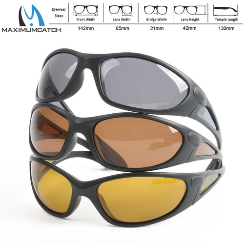 Maximumcatch Sport Sunglasses Brown Yellow And Grey Colors To Choose Fishing Sunglasses - Outdoor Outfitters Pro