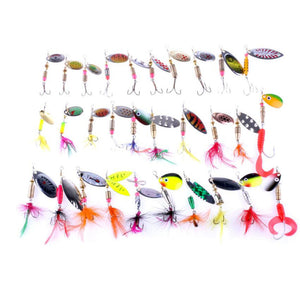 Lot 30pcs/lot fishing lure Set Mixed Crankbaits Hooks Spinner Baits Assorted Tackle  fishing bait - Outdoor Outfitters Pro