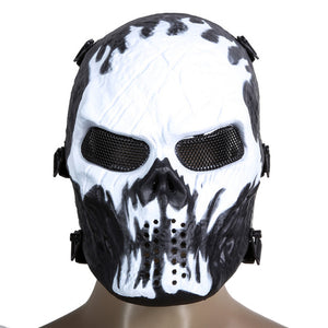 Phantom Military Tactical Outdoor Wargame CS Paintball Airsoft Skull Full Face Mask - Outdoor Outfitters Pro