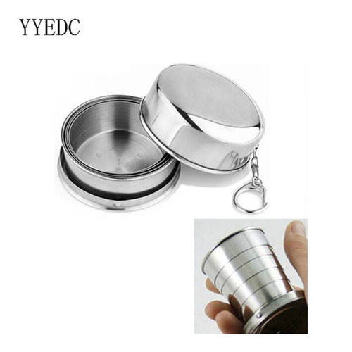 1Pcs Stainless Steel Folding Cup - Outdoor Outfitters Pro