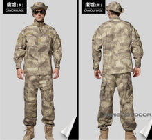 Tan Tactical Combat Uniform For Wargames Paintball/Airsoft Training