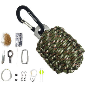14 in 1 EDC Para-cord survival kit - Outdoor Outfitters Pro