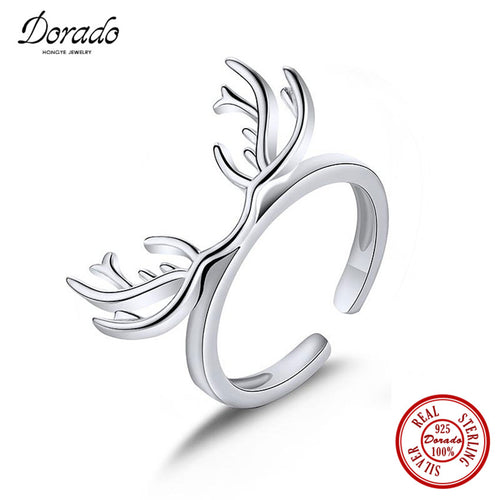 925 Sterling Silver Jewelry Exclusive Antlers Ring - Outdoor Outfitters Pro
