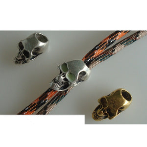 10pcs Metal Skull Bead For 550 Paracord Knife Lanyards
