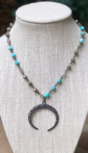 MIXED TURQUOISE CRESCENT