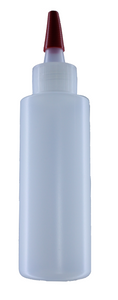 HDPE 250 ml/8oz Natural Cylinder/bottle with yorker