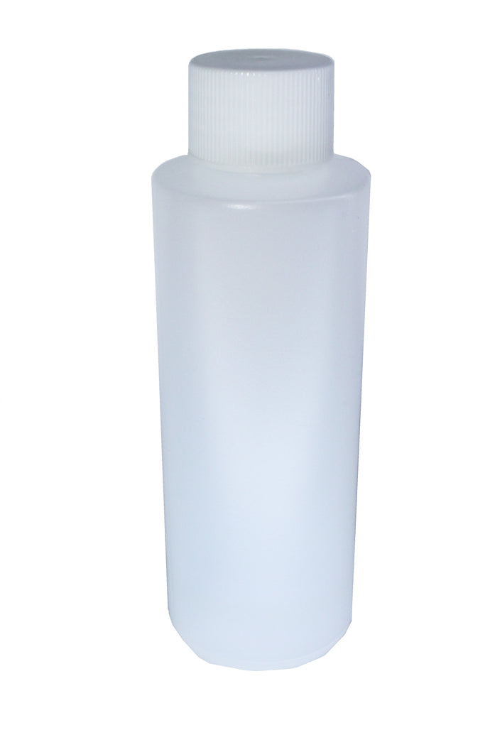 HDPE 120 ml/4oz Natural Cylinder/bottle capped
