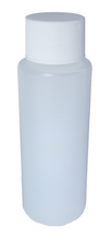 HDPE 60 ml/2oz Natural Cylinder/bottle capped