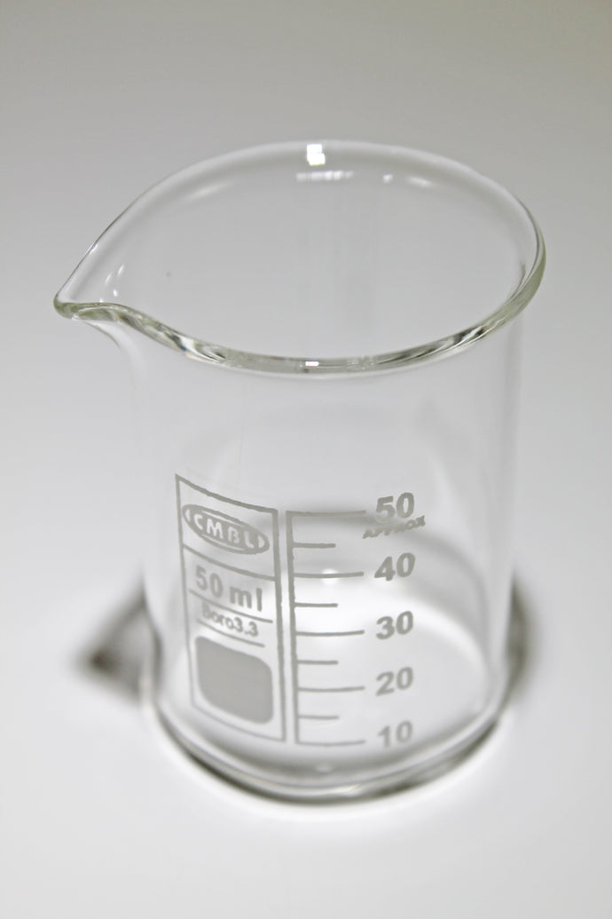 50 ml Glass Borosilicate Graduated Beaker