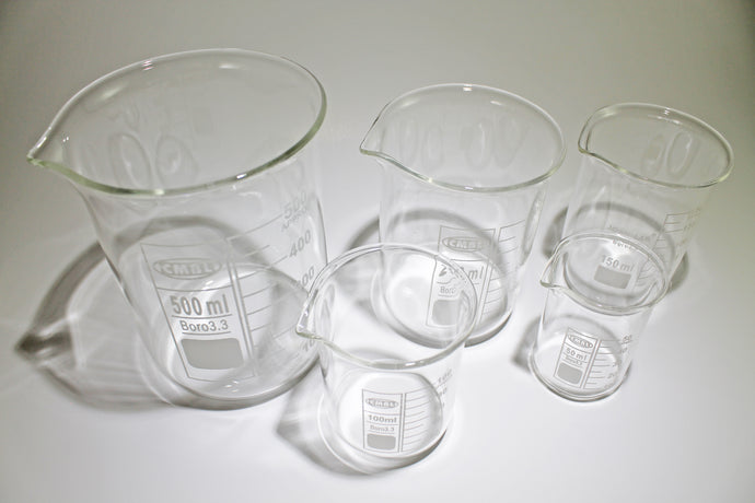 Glass Borosilicate Graduated Beakers 5 piece set