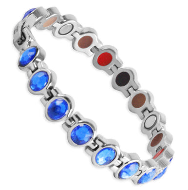Bio Magnetic Energy Bracelets Stainless Steel Blue