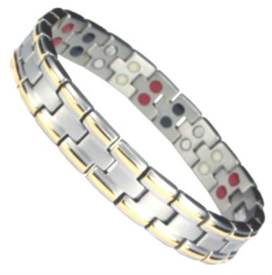 Ardan Titanium and Gold Magnetic Bracelet