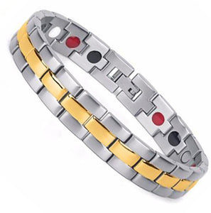 Rolex Style two tone Stainlesss Steel Bio Magnetic Bracelet