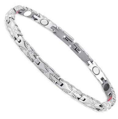Silver Butterfly Stainlesss Steel Magnetic Bracelet