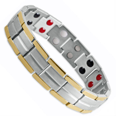 Ardross Silver and Gold Titanium Energy bracelet