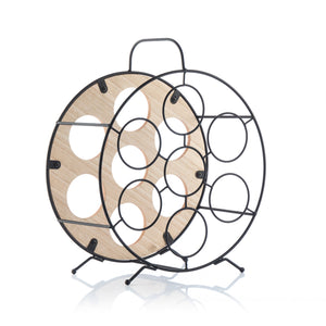 Round Bottle Rack Oenology (7 Bottles)
