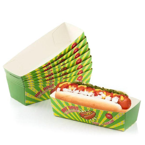 BBQ Classics Set of Hotdog Boxes (Pack of 8)