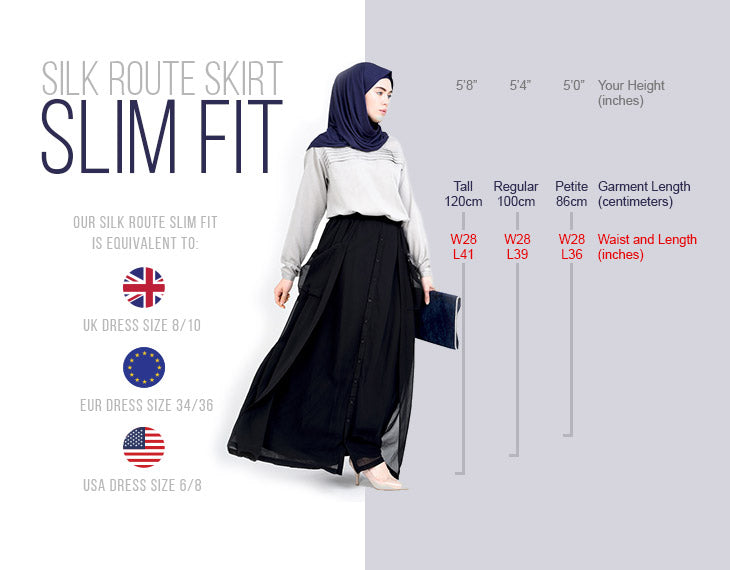 Modest Clothing Skirt Slim Fit