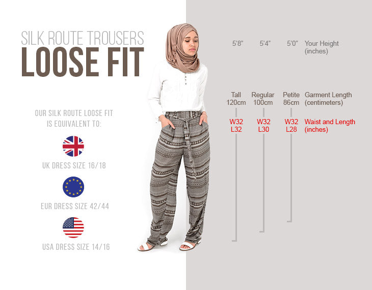 Modest Clothing Trousers Loose Fit
