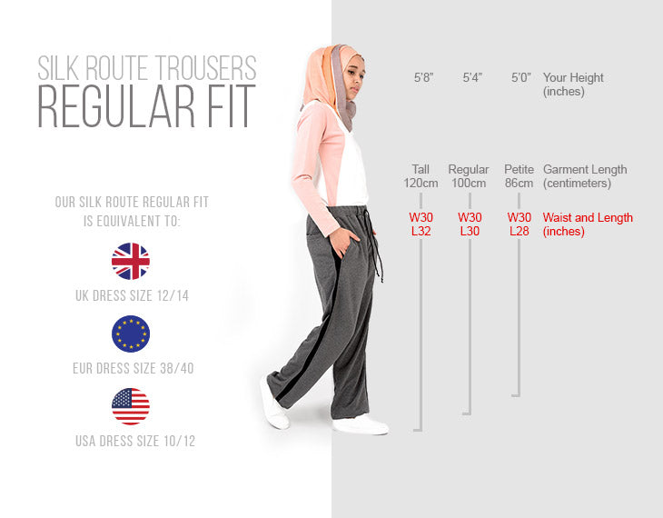 Modest Clothing Trousers Regular Fit