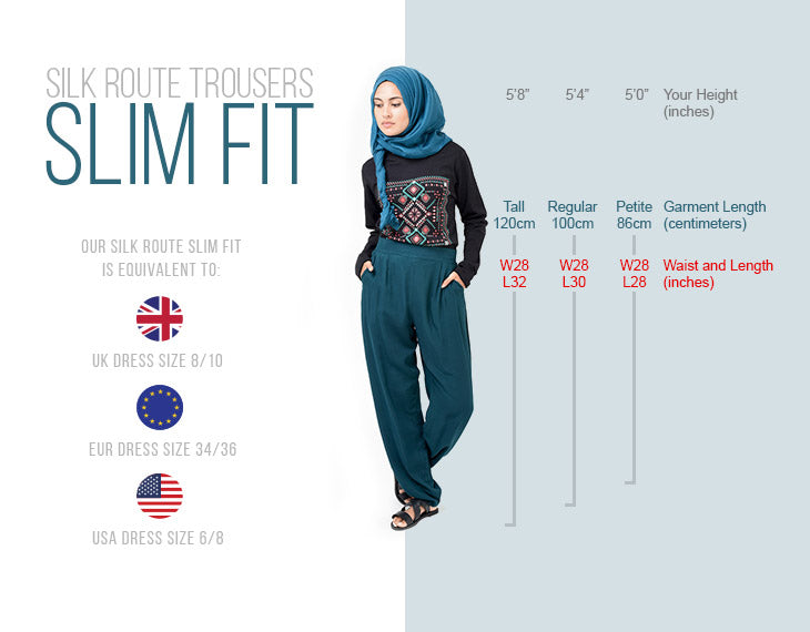 Modest Clothing Trousers Slim Fit
