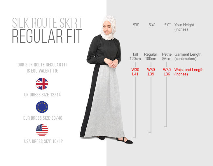 modest fashion skirt regular fit size