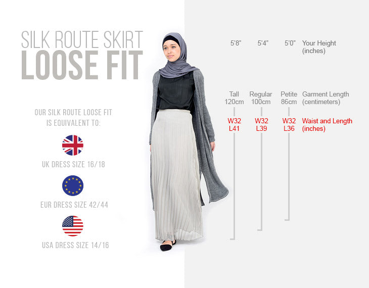 modest fashion skirt loose fit size