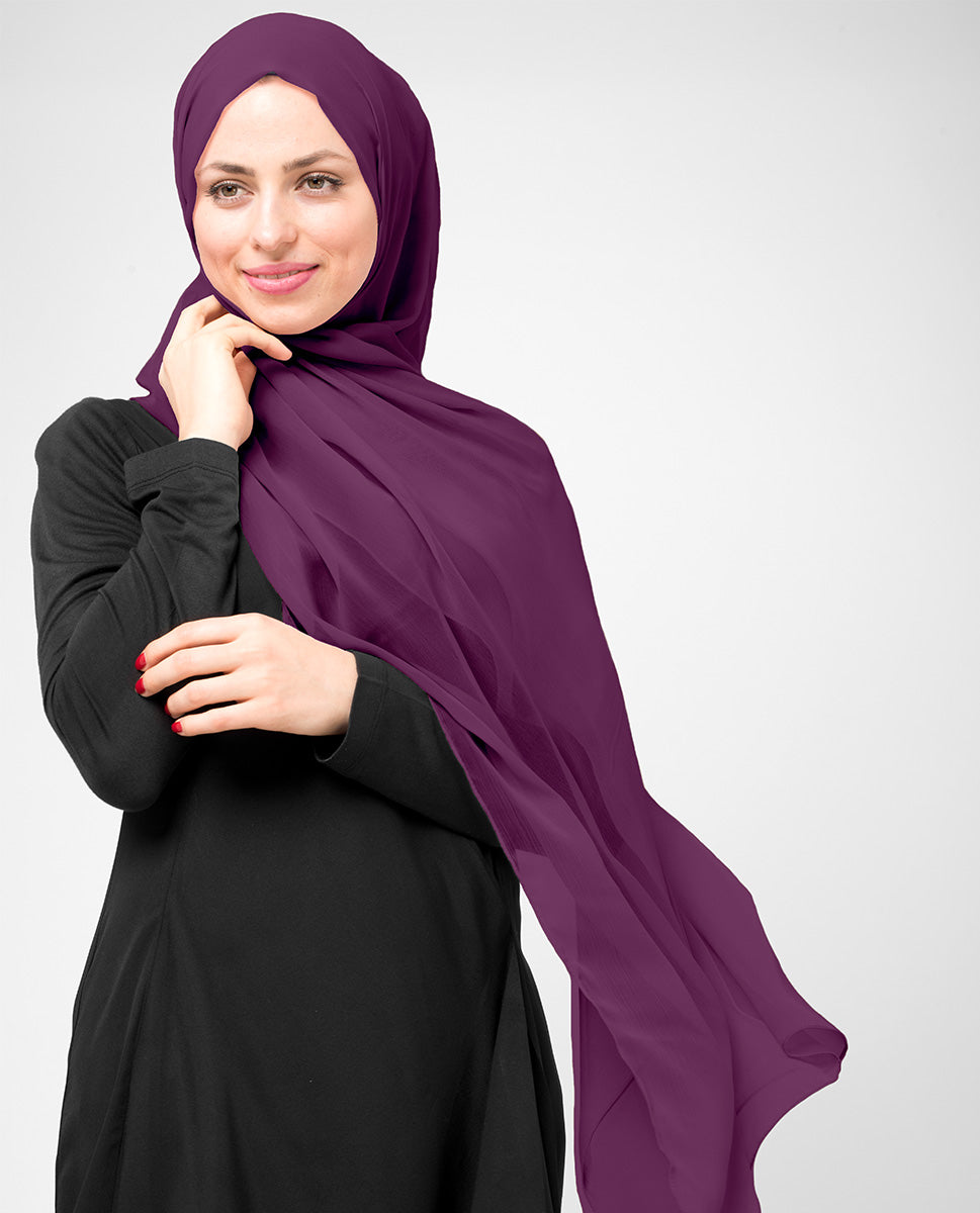 Amaranth Purple Chiffon Hijab