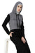 Black Sports Hooded Jilbab Abaya