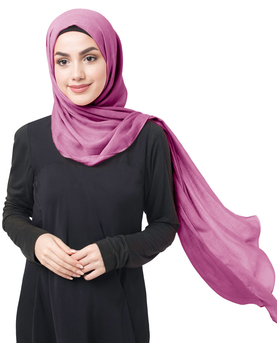 Amaranth Cotton Voile Scarf Hijab