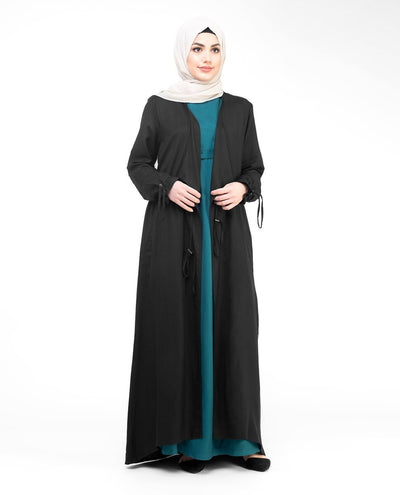 Black Full Length Waterfall Outerwear #