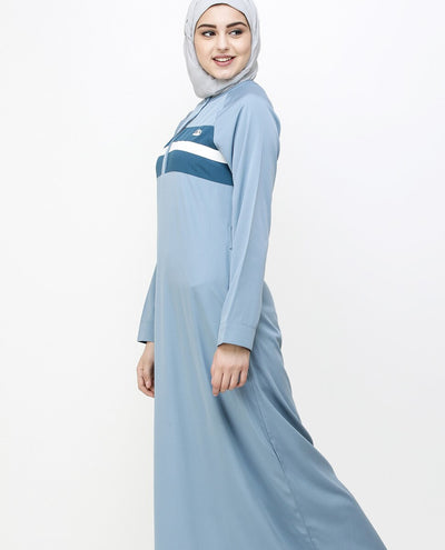 Citadel Blue Stripe & Orion Jilbab Abaya